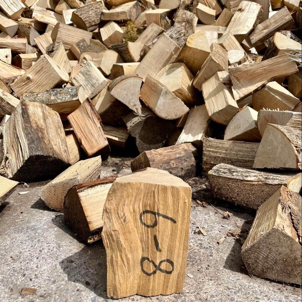 6-8 hardwood logs